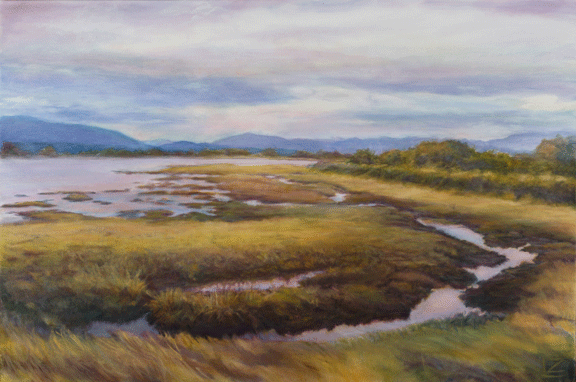Summer Reflection, Lynn Zimmerman, oil on canvas, 20×30″