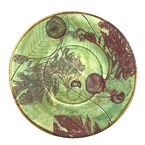 Debra Stern-Green Radish Plate-9.5 diameter-ceramics