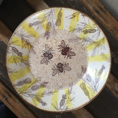 Debra Stern - Bee & Lavender Plate