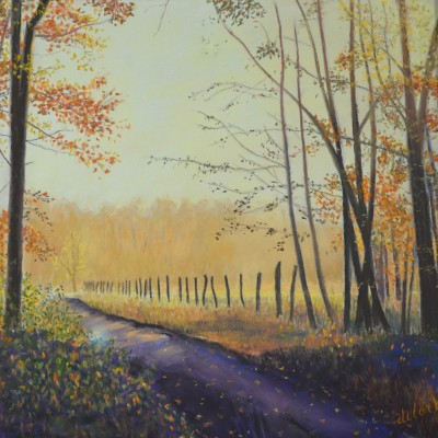 Fall Beauty - Dedrian Clark - 12x12 soft pastels