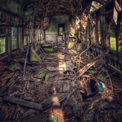Jackson-Faulkner_Crawling-Through-The-Wreckage - 16x20 photograph on metal