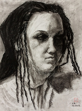 life drawing study 4, charcoal