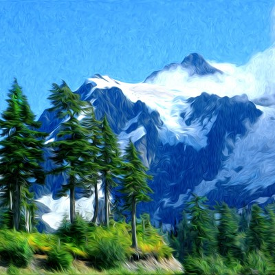 Mount-Shuksan-Ron King - 30x22 stratomophic rendering