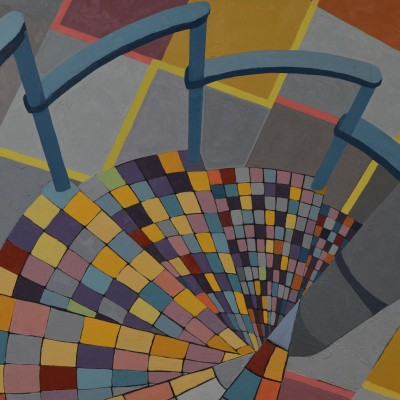 The Staircase - Stephen Hunter - 24x28 oil on board