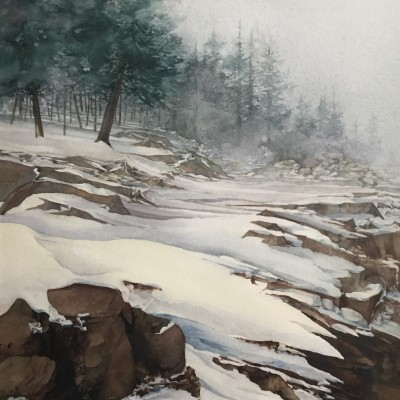 Winter Mist - Ashley Dean - 18X21 Watercolor