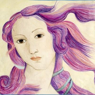 McKenzie Willet, Colored pencil, Title: Portrait Study