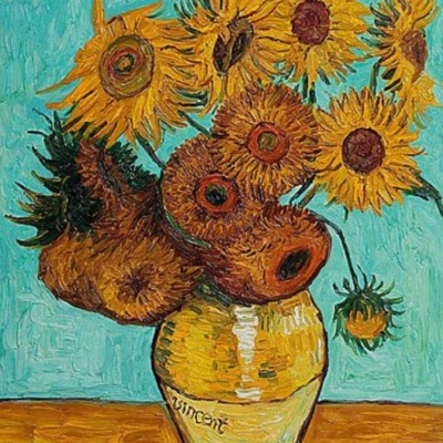 inspired by van gogh�s �sunflowers� � paint and wine night