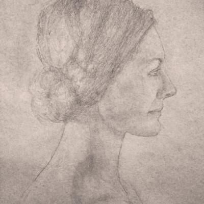 APARNA RUPAKULA-Candice 18 x 24 Graphite on paper