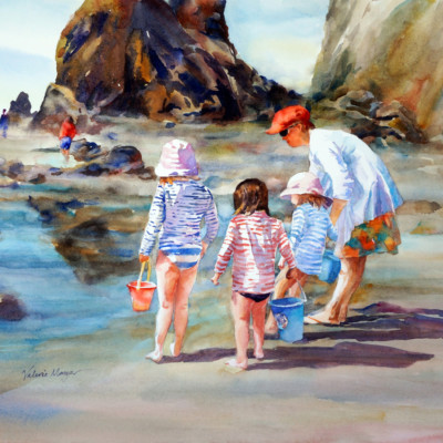 VALERIE MAYER-Tide Pools 27x20 Watercolor
