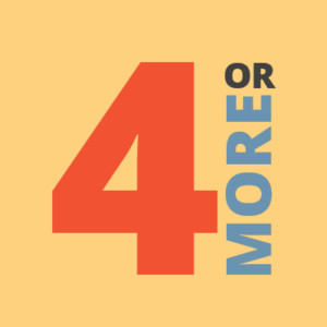 4 or more logo