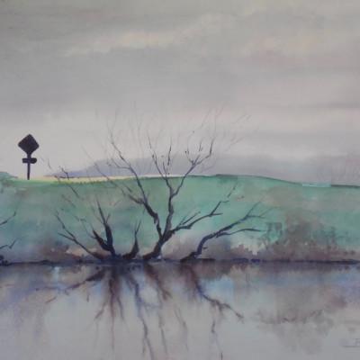 1/2 sheet; Ed's painting