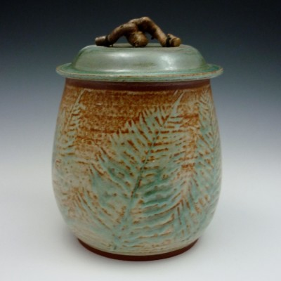 Stone_Fernware Covered Vase-Jansen