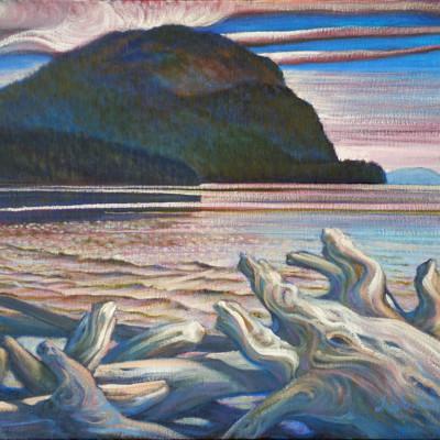 Lummi Mountain From Legoe Bay Oil on Canvas, 18x24