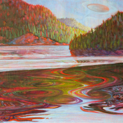 Walking On Water Oil on Canvas, 24x48
