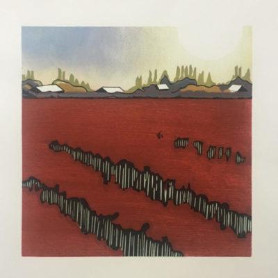 Gene Jaress Red-Tulip-Field-at-Dusk