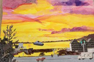 Candace Buethorn Sunset on the Alaska Ferry