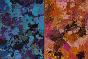 1. Perry_Sonata and #17 Nocturne 2016 12x24 (Diptych)