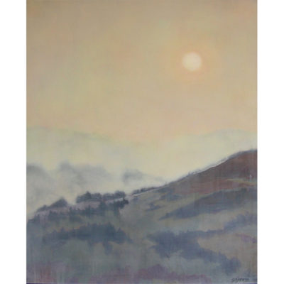 Gene Jaress, Fires Upriver - Smoke at Sunrise 800x800