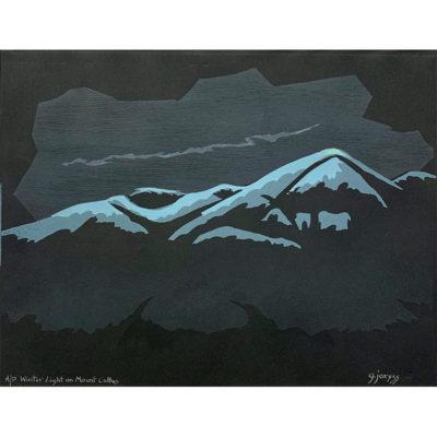 Gene Jaress, Winter Light on Mount Cultus 800x800