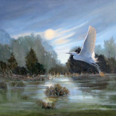 24 X 30     ANGEL OF THE MARSH