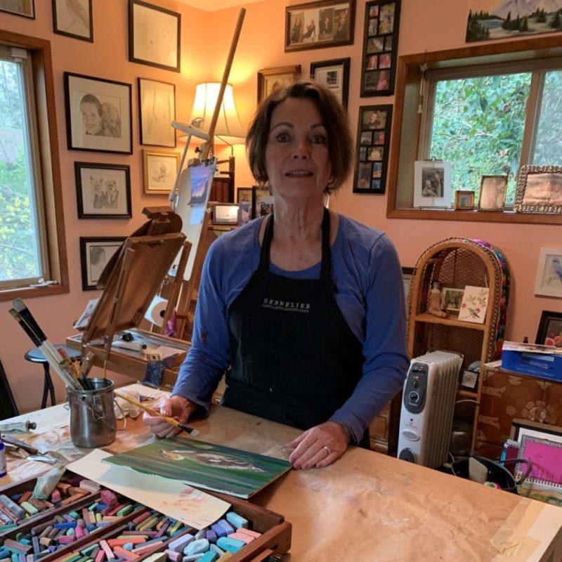 Melissa in Her Studio