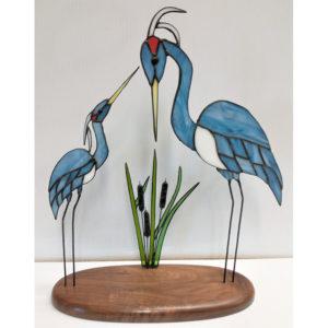 Green Cranes Cattails