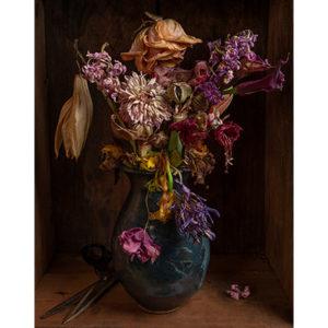 Carroll, Blue Vase and Scissors