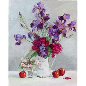 Joy Olney_Apples and Garden Flowers